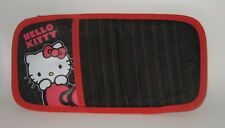 Hello Kitty Sun Visor Organizer CD DVD w/ Pen Holder for the Car Black & Red