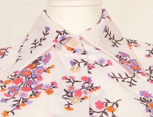 60'S 'JERSEY' FRENCH VINTAGE FLOWER PRINT SUMMER  DRESS UK 10 / FR 38