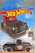 2018 Hot Wheels #327 HW Metro 4/10 '52 CHEVY Pickup Flat Black w/Black MC5 Spoke