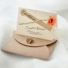 Retro DIY Flower Greeting Card With Envelope Party Invitation Gift Meessage 2pcs Orange Daisy