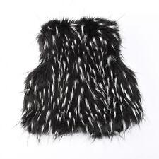 Baby Boys Girls Toddler Kid Winter Faux Fur Waist Coat Gilet Jacket Outwear Vest