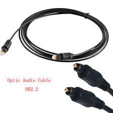 15M/48FT Optical Fiber Optic Toslink Digital Audio Cable SPDIF Cord OD2.2mm TOP