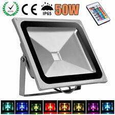 50W LED RGB Fluter Flutlicht Außenleuchten Strahler Scheinwerfer Dimmbar IP65