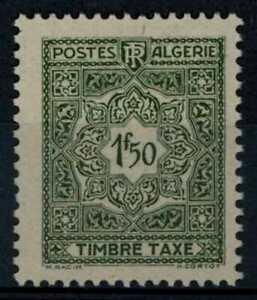 Algeria 1947-55 SG#D288, 1f50 Grey-Olive Postage Due MNH #E90943