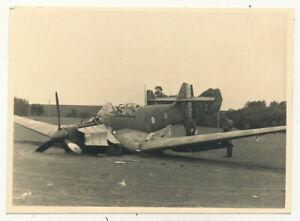 Foto - abgeschossenes französisches Flugzeug - 2.WK