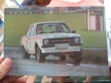 "9x6"" Photo Roger Clark David Sutton Escort RS1800 MLD999P 1977 Lindisfarne Rally"
