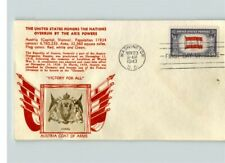 AUSTRIA, Overrun Country in World War II, CROSBY Photo, thermograph, 1943 FDC