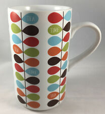 Coffee Mug Cup Tea Time Pier One 1 Darling Mid Century Modern Mcm Rain Drops