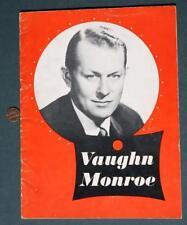 1950s Era Big Band Leader & Actor Vaughn Monroe On Site Concert Program-Scarce!*