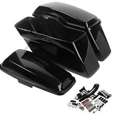 Painted Hard Saddlebag + Latch Lids Hardware Cover For HD Road King Glide 14-18