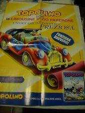 POSTER / MANIFESTO TOPOLINO LA LIMOUSINE DI ZIO PAPERONE locandina PROMO Disney