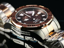 Invicta Men 53mm GRAND DIVER Miyota Auto LIMITED ED BROWN DIAL Rose 2Tone Watch