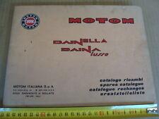 CATALOGO PARTI DI RICAMBIO MOTOM DAINELLA DAINA LUSSO OLD ITALY