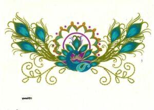 Temporary Tattoo, Karma Tattoos PS01-9727TT, Federn /Blumen
