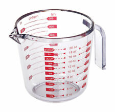 Progressive Clear Plastic 20oz Measurg Cup Standard and Metric Measurement