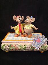 Disney Traditions Showcase Jim Shore Cinderella: Jaq Gus Trinket Box Figurine