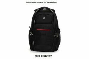 """Work Office  15.6"""" laptop backpack Swiss waterproof  Backpack very strong bag"""
