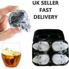 Skull Shape 3D Ice Jelly Cube Mold Maker Bar Party Silicone Tray Chocolate Mould