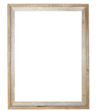 """20x24–2"""" Wide Signature Reclaimed Rustic Barn Wood Open Frame No Glass or Back"""