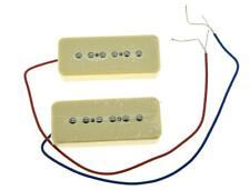*NEW High Output Ceramic Soapbar P-90 PICKUP SET for Guitar P90 Pickups Cream