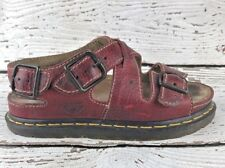 Doc Martens Vintage Womens Red Leather Fisherman Sandals England US 6 EU 38 UK 5