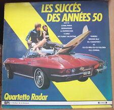 """QUARTETTO RADAR """"LES SUCCES DES ANNES 50""""  CAR 60's COVER FRENCH LP SPI"""