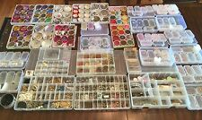 HUGE LOT OF JEWELRY MAKING SUPPLY BEADS  AND FINDINGS