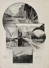 """Toblach/Trentino. """"STRADA D 'Allemagna"""" tra l'altro Landro U. Cadini-O. conte del 1898"""