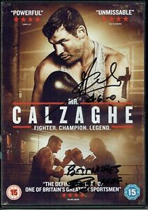Joe & Enzo Calzaghe Autograph Signed DVD Insert AFTAL/UACC RD