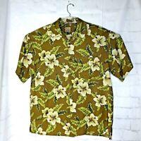 Jos A Bank Men's S/S 100% Silk Hawaiian Aloha Camp Shirt Size XL Floral