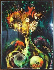 """Jose Tonito Gallery Exhibited PAINTING""""Prince""""Fine art.Framed.Altered States"""
