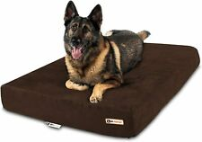 """New listing Big Barker 7"""" Pillow Top Orthopedic Dog Bed Extra Large (52 X 36 X 7), Chocolate"""