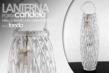 LANTERNA PORTA CANDELA PORTACANDELA INTRECCIO BAMBU' BASE TONDA 91CM ARY -695636