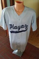"""YO! Awesome Mesh Baseball Jersey Men's L 42-44 """"Playaz No. 1"""" Gray"""