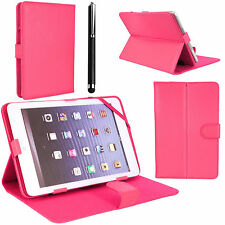 PU Plegable Folio Libro De Cuero Funda Soporte para Android Tablet PC 9