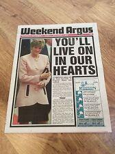 WEEKEND ARGUS Brighton Newspaper PRINCESS DIANA WALES Funeral Tribute 6/9/1997
