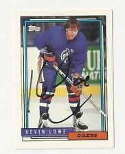 92/93 Topps Autographed Card Kevin Lowe Edmonton Oilers