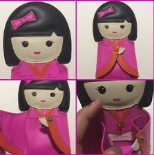 Kate Spade Hello Tokyo Doll Coin Purse Pink Bow Leather NWT $128 SALE