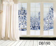 Polyester Photography Winter Snow background studio photo backdrop 7X5FT DB190