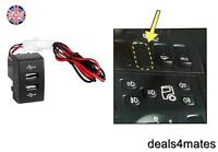 Dash Dual USB Port Truck Charger Outlet LED IVECO STRALIS EUROCARGO 12V 24V NEW