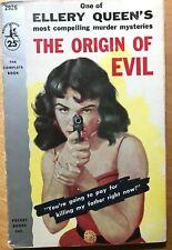 The Origin of Evil Ellery Queen 1956 Mystery Pulp Mass Market Paperback