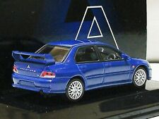 WOW EXTREMELY RARE Mitsubishi Lancer Evo VII 7 Turbo Blue 1:64 Auto Art-CM's
