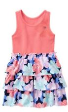 Gymboree Tropical Breeze 4 5 6 10 Pink Coral Ruffled Floral Dress Summer 16