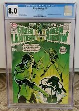 GREEN LANTERN #76 CGC 8.0 GREEN LANTERN/GREEN ARROW STORIES BEGIN