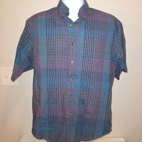 Pendleton Country Traditionals Men's Size Medium Button Down Short Sleeve  Plaid