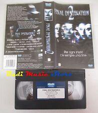 film VHS FINAL DESTINATION 2 Ali Larter Michael Landes Univideo   (F8*) no dvd