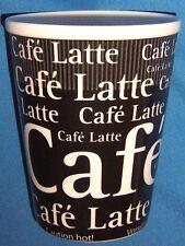 "Cafe Latte Ceramic MUG CUP Konitz / Germany 4 3/8"" tall EUC Traveler's Mug"