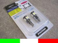 2 LAMPADINE 5 LED CANBUS NO ERRORE CHECK LUCI T10 W5W A2B47