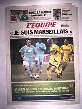 """L'EQUIPE 11 AOUT 2006 MARSEILLE OM RIBERY """"JE SUIS MARSEILLAIS"""""""