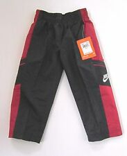NIKE Red Black Athletic Track Wind Sweatpants Boys Toddler 2T NWT $30